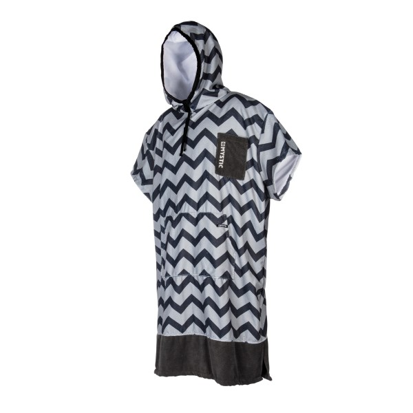 MYSTIC PONCHO ALLOVER PRINT - Light Grey - Front