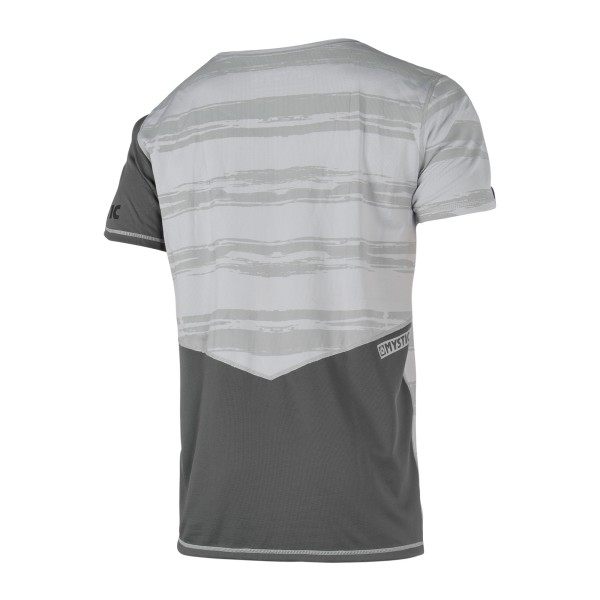 MYSTIC MAJESTIC S/S Quickdry - Grey White - back