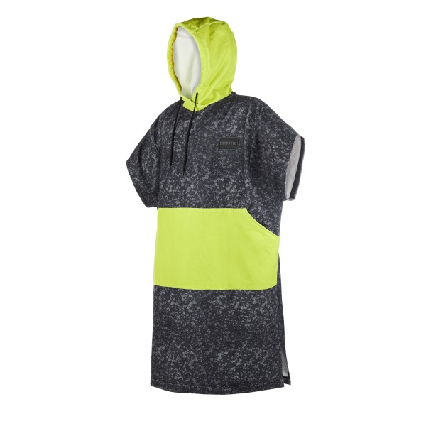 MYSTIC PONCHO ALLOVER - Black Lime
