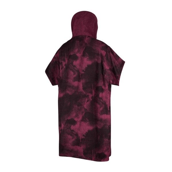 MYSTIC PONCHO ALLOVER - Oxblood Red
